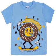 47-140107 Футболка для мальчика, 1-4 года, голубой