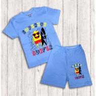 47-142101  Комплект для мальчика, 1-4 года, голубой
