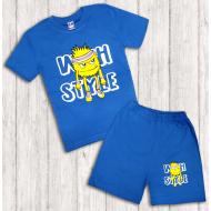 47-142103 Комплект для мальчика, 1-4 года, т-голубой