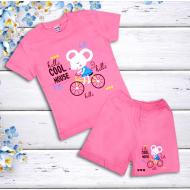 47-142201  Комплект для девочки, 1-4 года, розовый