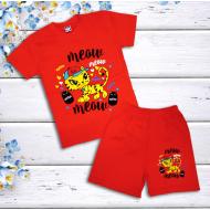 47-142205 Комплект для девочки, 1-4 года, красный