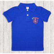 47-14702 Рубашка поло для мальчика, 1-4 года, синий