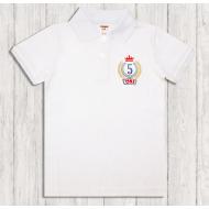 47-14704 Рубашка поло для мальчика, 1-4 года, белый