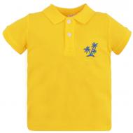 47-58706 Рубашка поло для мальчика, пике, 5-8 лет, жёлтый