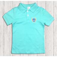 47-14707 Рубашка поло для мальчика, 1-4 года, ментол