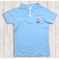 47-14708 Рубашка поло для мальчика, 1-4 года, голубой