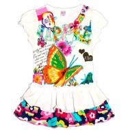 47-26307 Платье  для девочки, 2-6 лет, молочный