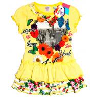 47-26311 Платье  для девочки, 2-6 лет, желтый