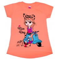 """47-144223 """"Nice Day"""" Туника для девочки, 1-4 года, персиковый"""