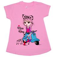 """47-144226 """"Nice Day"""" Туника для девочки, 1-4 года, розовый"""