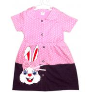 """47-370607 """"Зайка"""" Платье для девочки, 3-7 лет, розовый"""