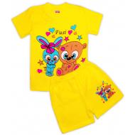 47-372207 Комплект для девочки, 3-7 лет, желтый