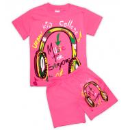 47-372208 Комплект для девочки, 3-7 лет, розовый