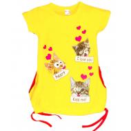 47-37803 Туника для девочки, 3-7 лет, желтый