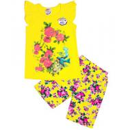 47-572202 Комплект туника-шорты, 5-7 лет, желтый