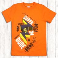 """47-580102 """"Футболка для мальчика, оранжевая, 5-8 лет"""