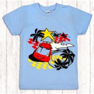 47-580108 Футболка для мальчика, 5-8 лет, голубой