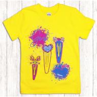 47-580207 Футболка для девочки, 5-8 лет, жёлтый