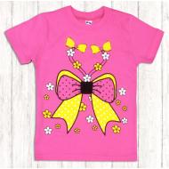 47-580211 Футболка для девочки, 5-8 лет, т-розовый
