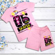 47-582201  Комплект для девочки, 5-8 лет, св-розовый