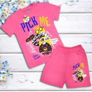 47-582202 Комплект для девочки, 5-8 лет, розовый