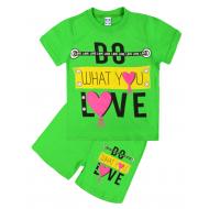 47-582205  Комплект для девочки, 5-8 лет, зеленый