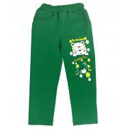 47-379202 Брюки для девочек с карманами, 3-7 лет, зеленый