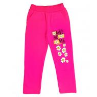 47-379207 Брюки для девочек с карманами, 3-7 лет, розовый