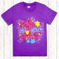 47-9120203 Футболка для девочки, 9-12 лет, фиолетовый
