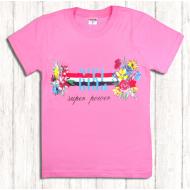 47-9120202 Футболка для девочки, 9-12 лет, розовый