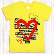 47-9120212 Футболка для девочки, 9-12 лет, желтый
