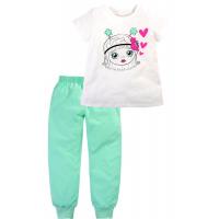 """50-02047 """"My Little Star"""" Пижама для девочки, молочный/ментоловый"""
