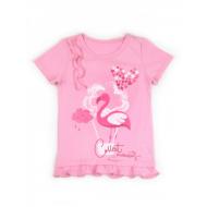 """50-02066 """"Фламинго"""" футболка для девочки, розовый"""