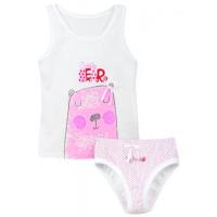 """50-0200101 """"Bear"""" Комплект детский, белый\розовый"""