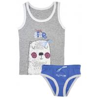 """50-0200102 """"Bear"""" Комплект детский, серый\голубой"""