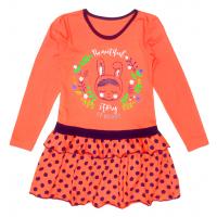 """50-0202518  """"Bunny"""" Платье для девочки, коралловый"""