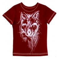"""50-0204930 """"Wolf"""" Футболка для мальчика, террактовый"""
