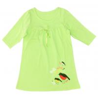 """50-4831309 """"Birds""""  Ночная сорочка для девочки, салатовый"""