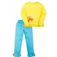 "50-024 ""Giraffe"" Пижама для девочки, желтый\бирюза"