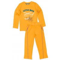 "50-0600214 ""LITTLE MAN"" Пижама для мальчика, оранжевый"