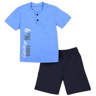 50-19105 Комплект для мальчика (поло, бриджи), св-голубой\т-синий