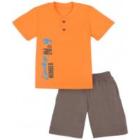 50-19106 Комплект для мальчика (поло, шорты), оранжевый\серый