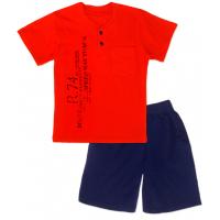 50-19107 Комплект для мальчика (поло, бриджи), красный\синий
