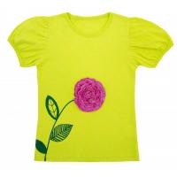 """50-29021 """"АСТРА"""" футболка для девочки, салатовый"""