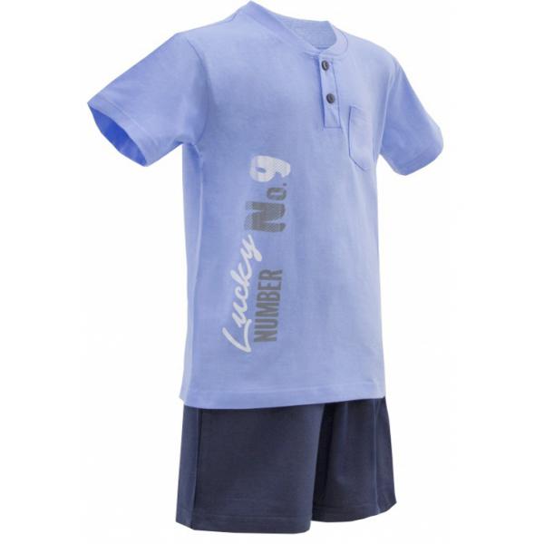 50-8122102 Комплект для мальчика (поло, шорты), голубой/синий*