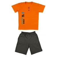 50-8122101 Комплект для мальчика (поло, шорты), оранжевый/светло-серый