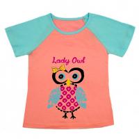"""50-68022 """"СОВУШКА"""" футболка для девочки"""