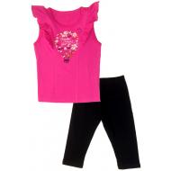 50-10034 Комплект с бриджами, фуксия/чёрный