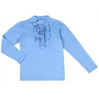 50-813015 Водолазка с жабо, голубой