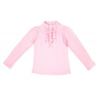 50-913016 Водолазка с жабо, розовый, 134-158